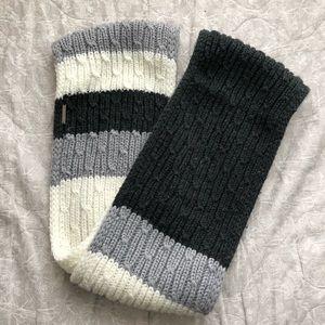 Michael Kors Circle Scarf - White Gray Black